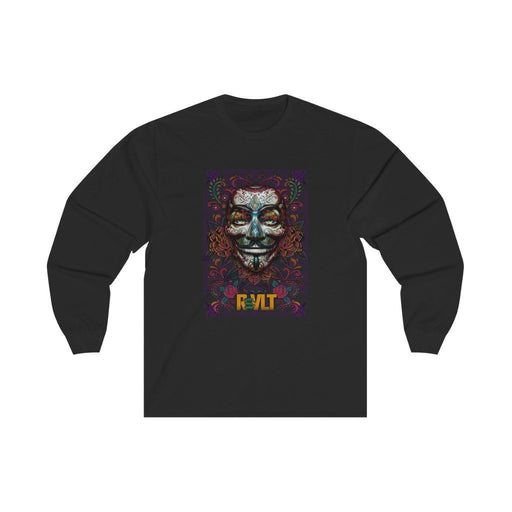 RVLT - Day of the Dead - Sugar Skull - Unisex Long Sleeve Tee - Red Bear Brands
