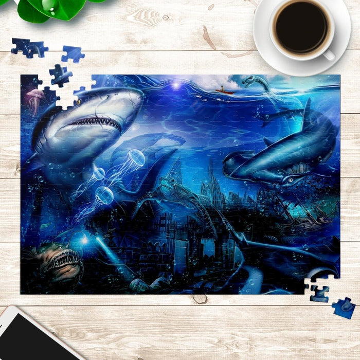 Sharks! Original Craig Howell Cheeba Productions Art Puzzle - FREE Shipping Globally - Red Bear Brands