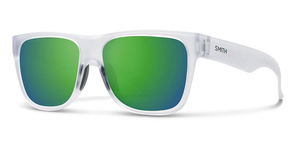 Lowdown 2 Sunglasses - Matte Crystal with Green Mirrored