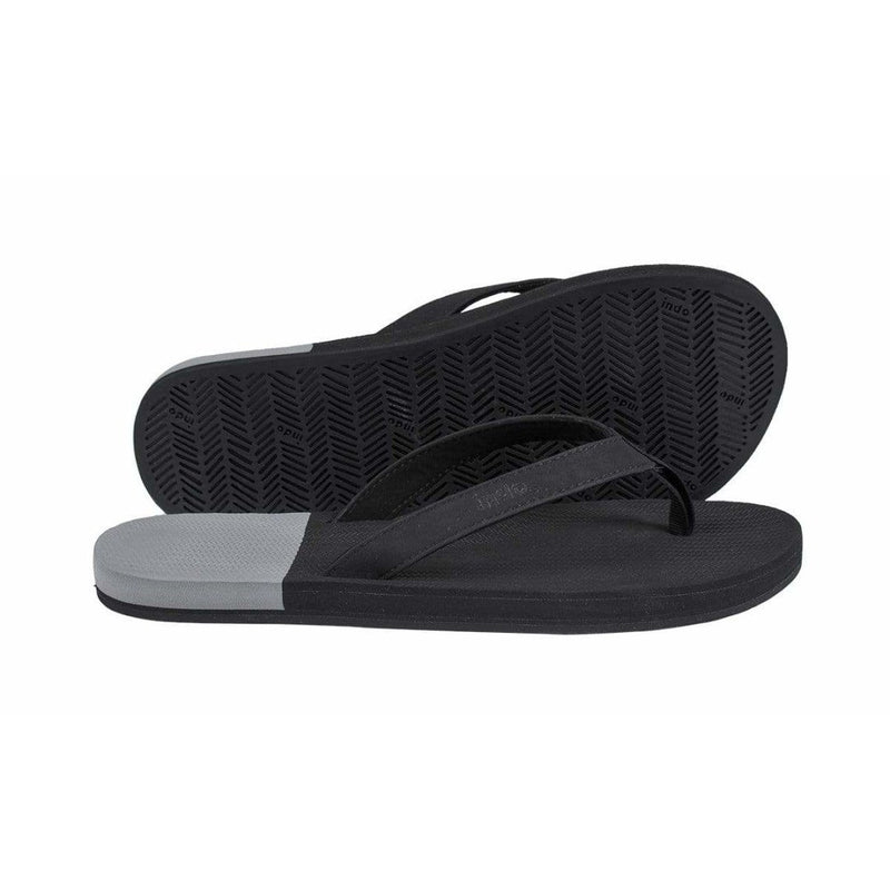 ESSNTLS Flip Flops Men Black Granite