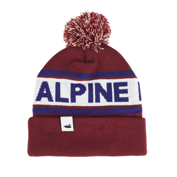 Summit Pom Beanie | Burgundy