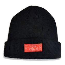 LIMITED EDITION Black Fold Beanie
