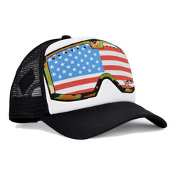 White Black American Flag Goggle Original