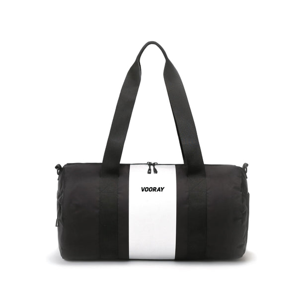 Iconic Barrel Duffel, Silver Stripe