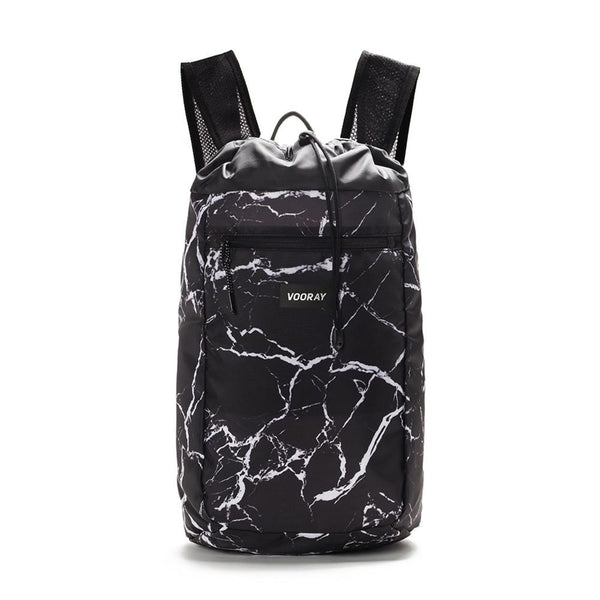 Stride Cinch Backpack, Black Marble