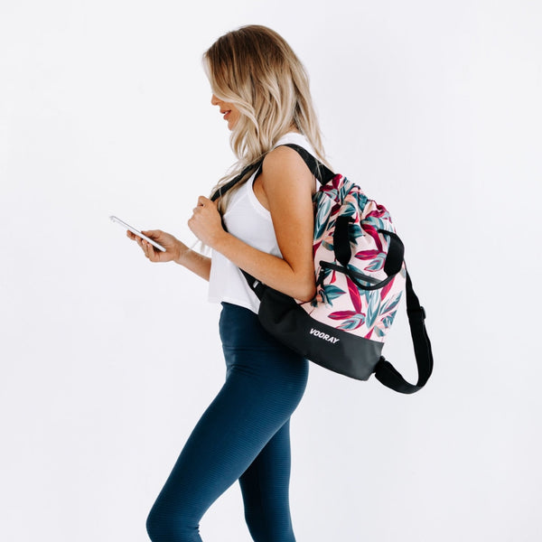Flex Cinch Backpack, Botanic Pink