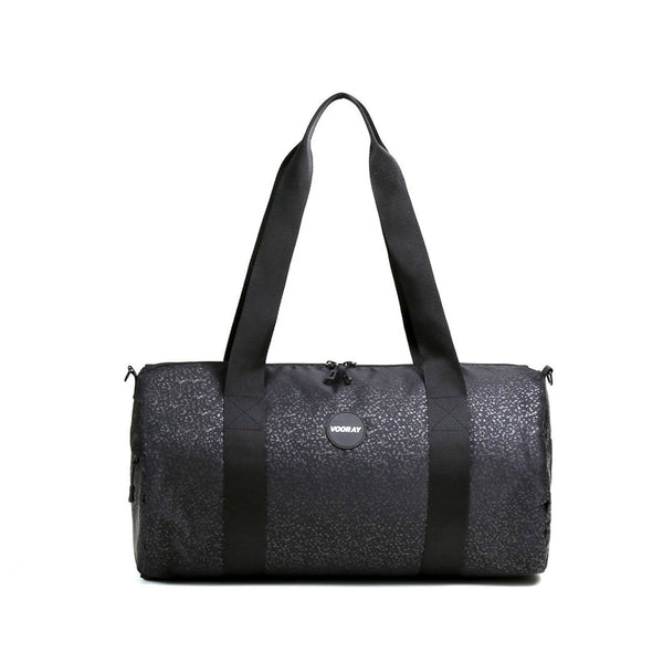 Iconic Barrel Duffel, Black Foil