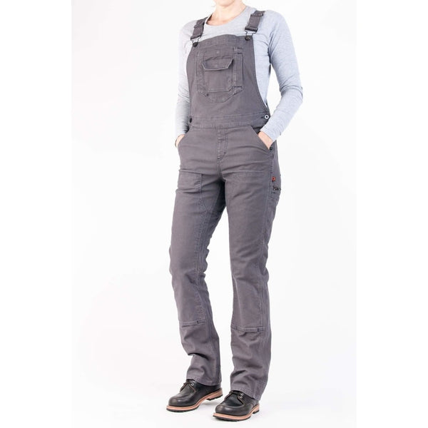 Freshley Overall in Grey Stretch Canvas