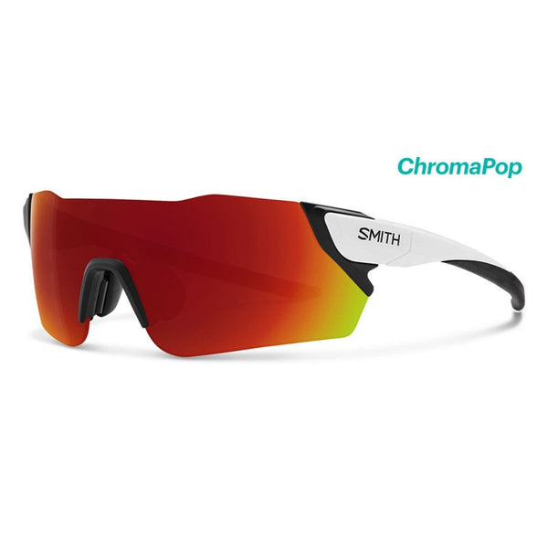 Attack Matte White with ChromaPop Red Mirror Lens Sunglasses