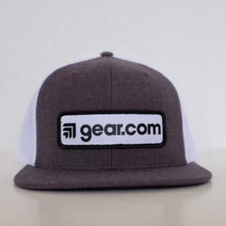 Gear Patch Gray and White Hat