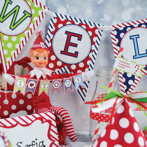 Shelf Elf Arrival Party Kit, Printables and Ideas