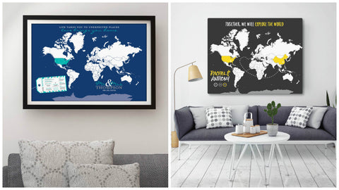 Unique Anniversary Gifts for Him – Interactive Travel Maps from PaperRamma