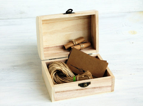 Unique Anniversary Gifts for Him – Wooden memory chest kit from ShabbyGifts