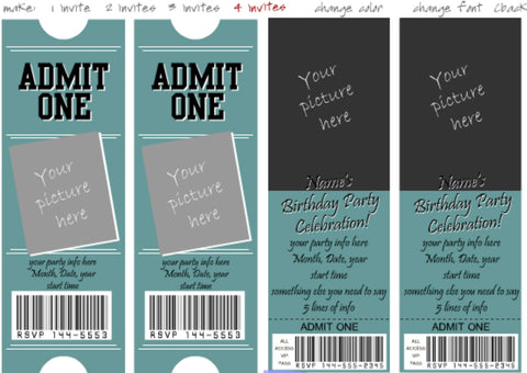 Unique Anniversary Gifts for Him – Custom tickets from Print With My Pic