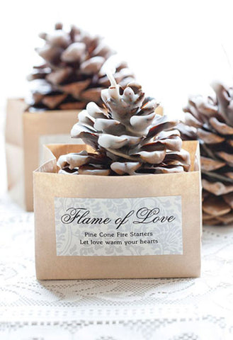 pinecone fire starter wedding favors, pinecone fire starter, pinecone fire starter wedding favor, unique pinecone fire starter wedding favor, top 10 unique wedding favors, unique wedding favors, wedding favors