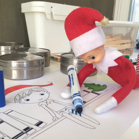 Printable Elf on the Shelf Antic