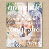 Gift for Aunt, An Auntie is Like Sunshine... // A special art print featuring your photo