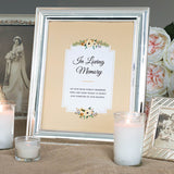 Wedding In Loving Memory Sign, Instant Download, Memorial Print