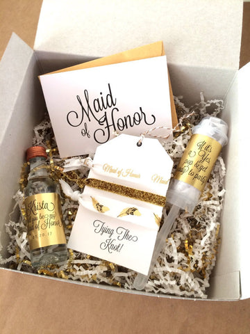 ... Bridesmaid & Maid of Honor Proposal Gift Ideas by Team 76th & New...