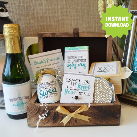 Will you be my Bridesmaid Box - DIY Instant Download Kit