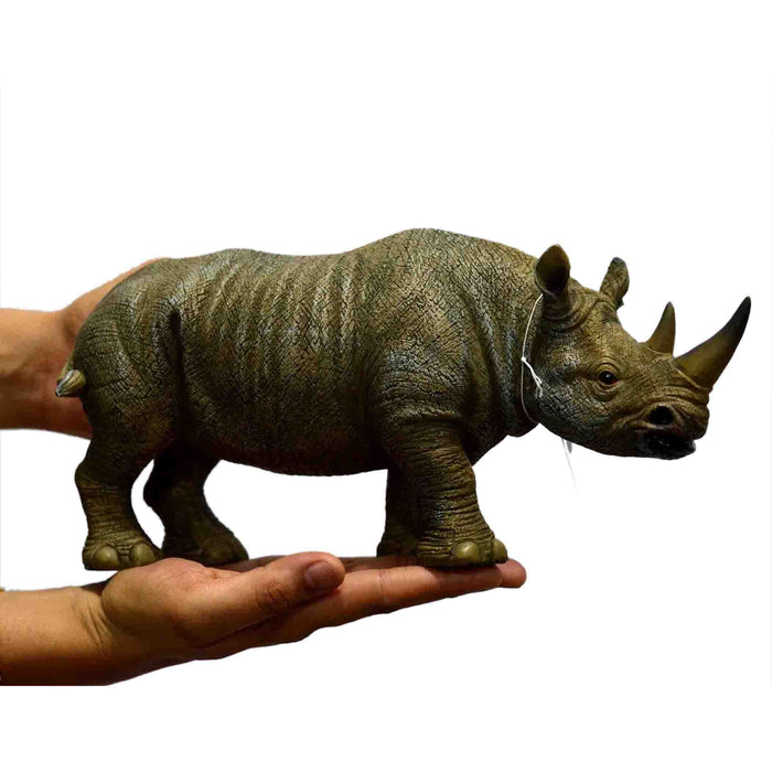 Elegant Old Rhinoceros Resin Show Piece - My Star Gardens