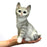 Cute and Beautiful Black Colour Sitting baby Cat Animal Figurines - My Star Gardens