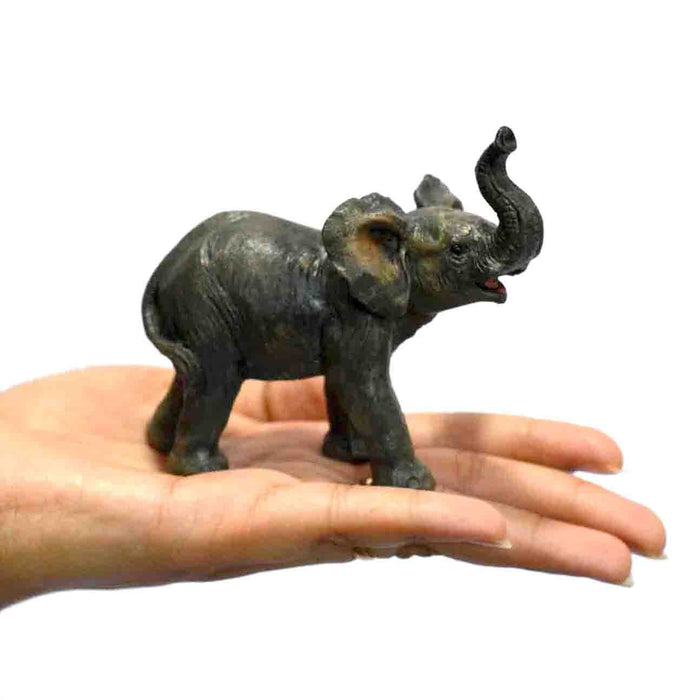 Cute Baby Elephant Trunk Up Right Show Piece - My Star Gardens