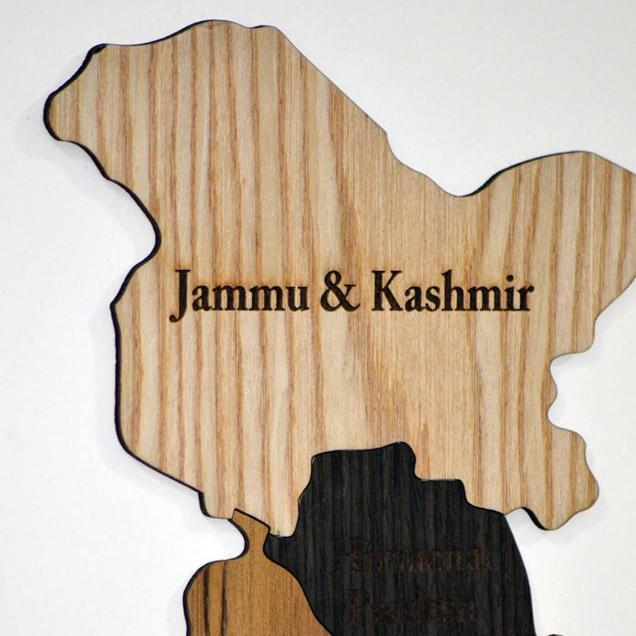 Wooden India Map - Home Decor Items - Wall Decor - My Star Gardens