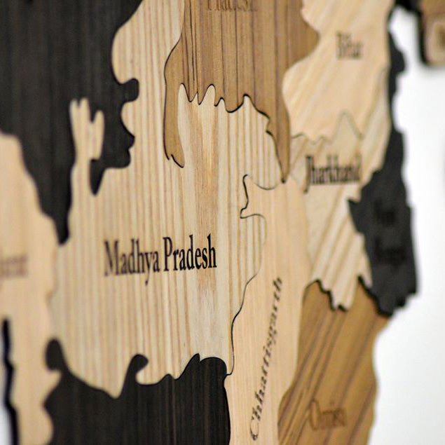 Wooden India Map - Home Decor Items - Wall Decor - Home Improvement -  My Star Gardens