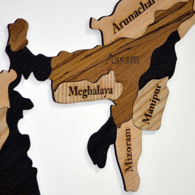 Wooden India Map - Home Decor Items - Wall Decor - Home Improvement Wall Decor -  My Star Gardens