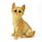 Cute and Beautiful Orange baby Cat Sitting Design Showpieces. - My Star Gardens