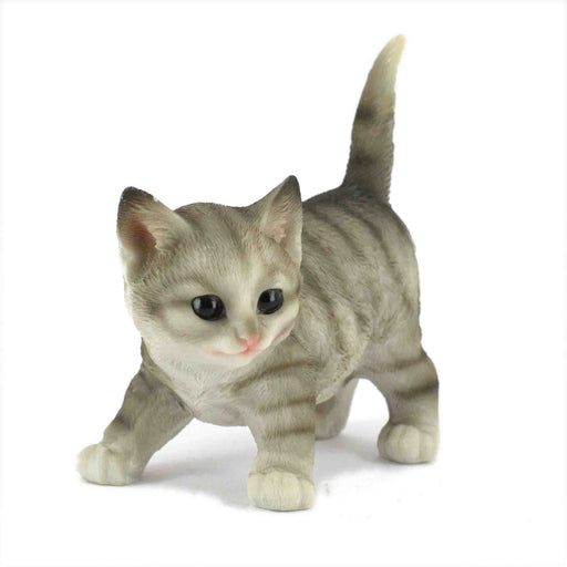 Beautiful and Realistic Look Black Colour active Kitten Animal Figurines - My Star Gardens