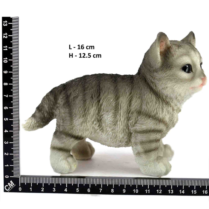 Cute and Lovely Black Colour baby Cat Standing Design Animal Toys - My Star Gardens