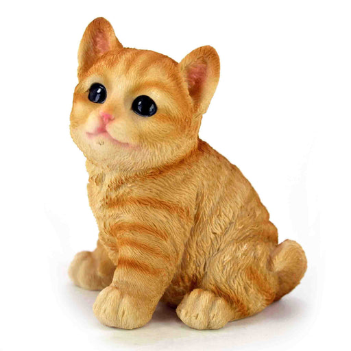 Cute and Attractive Orange Colour baby Cat Sitting Design ShowPieces - My Star Gardens