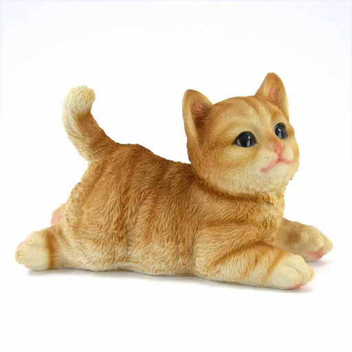 Attractive Orange Colour baby Cat Wagging Design ShowPieces - My Star Gardens