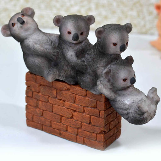 Cute Playful Baby Pandas with Brick Base Design Show Piece - My Star Gardens