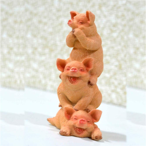 Cute and Happy Baby Piggies Design Show Piece - My Star Gardens