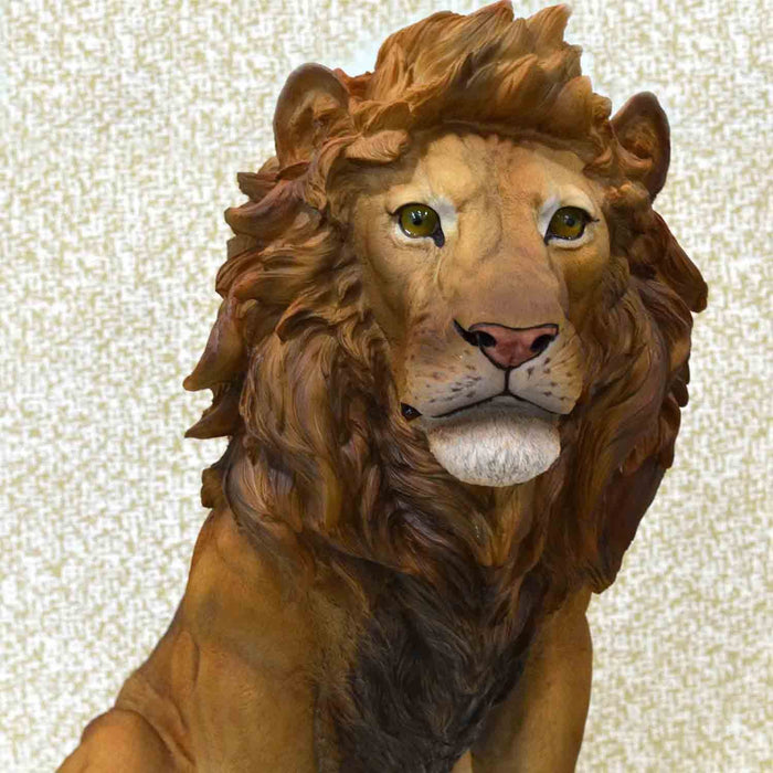 Kingly and Royal Look Lion Show Piece - My Star Gardens