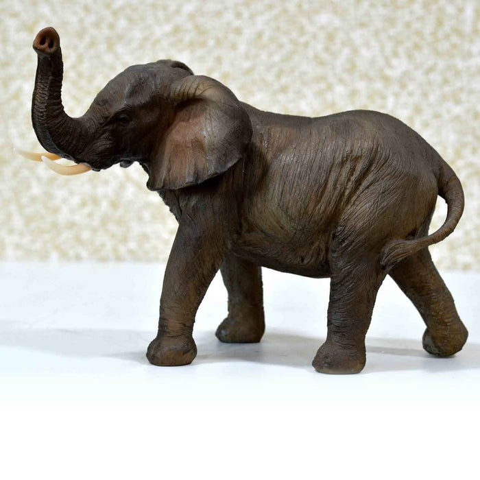 Attractive African Young Elephant Trunk Up Left Show Piece - My Star Gardens