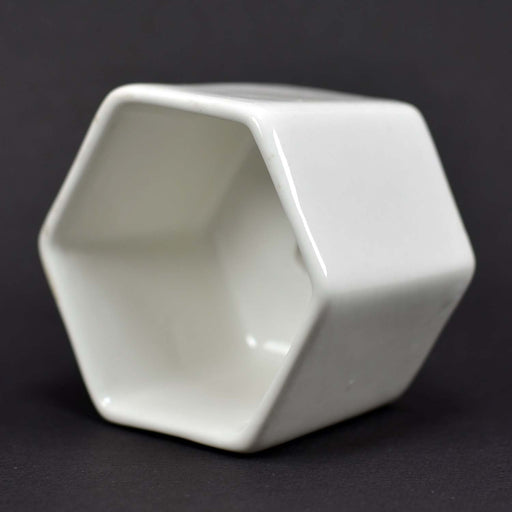 Hexagon Shape Very Very Tiny Ceramic Pots for Succulents Plants