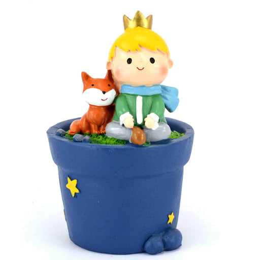 Little Prince With Fox Design Tabletop Succulent Plant Pots - My Star Gardens