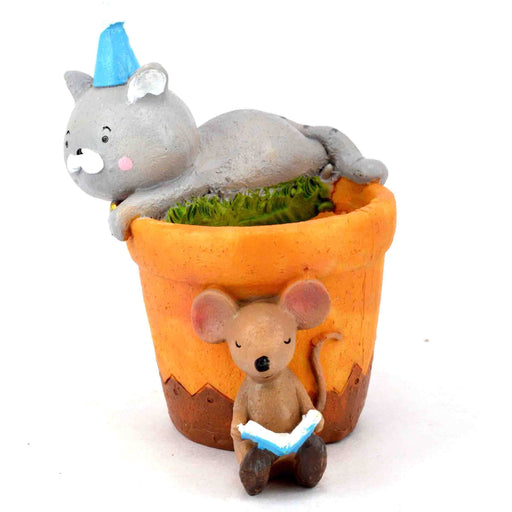 Cute Tom and Jerry Design Resin Pot For Succulent Plants - My Star Gardens