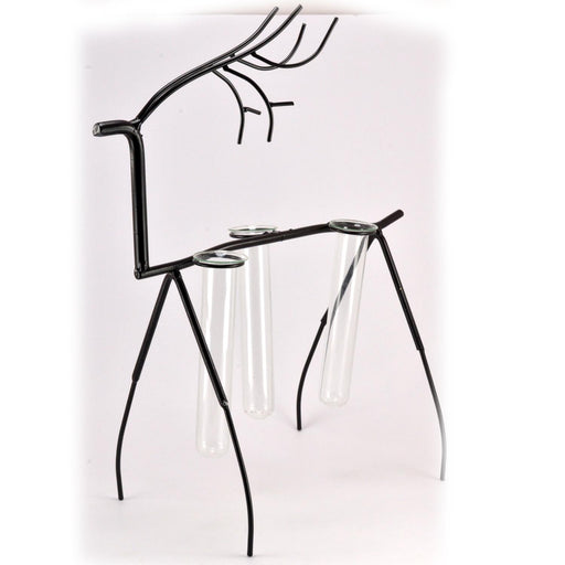 Deer Metal Stand With Three Glass Tube Terrariums Money Plant Planter - My Star Gardens