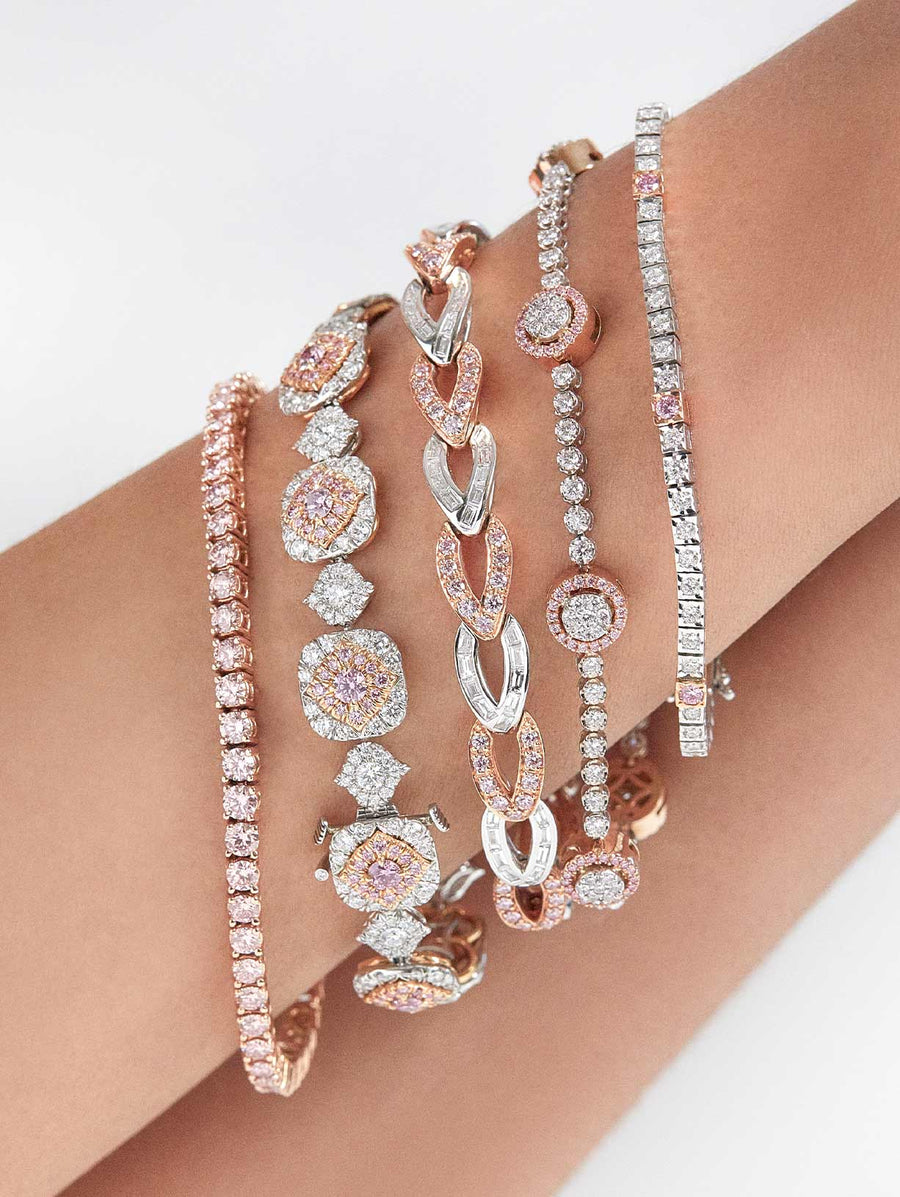 Argyle Pink™ Diamond Station Bracelet by J F I N E .