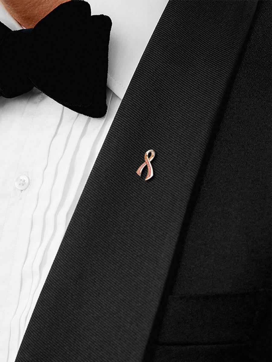 The Argyle Pink™ Diamond Breast Cancer Awareness Ribbon Pin