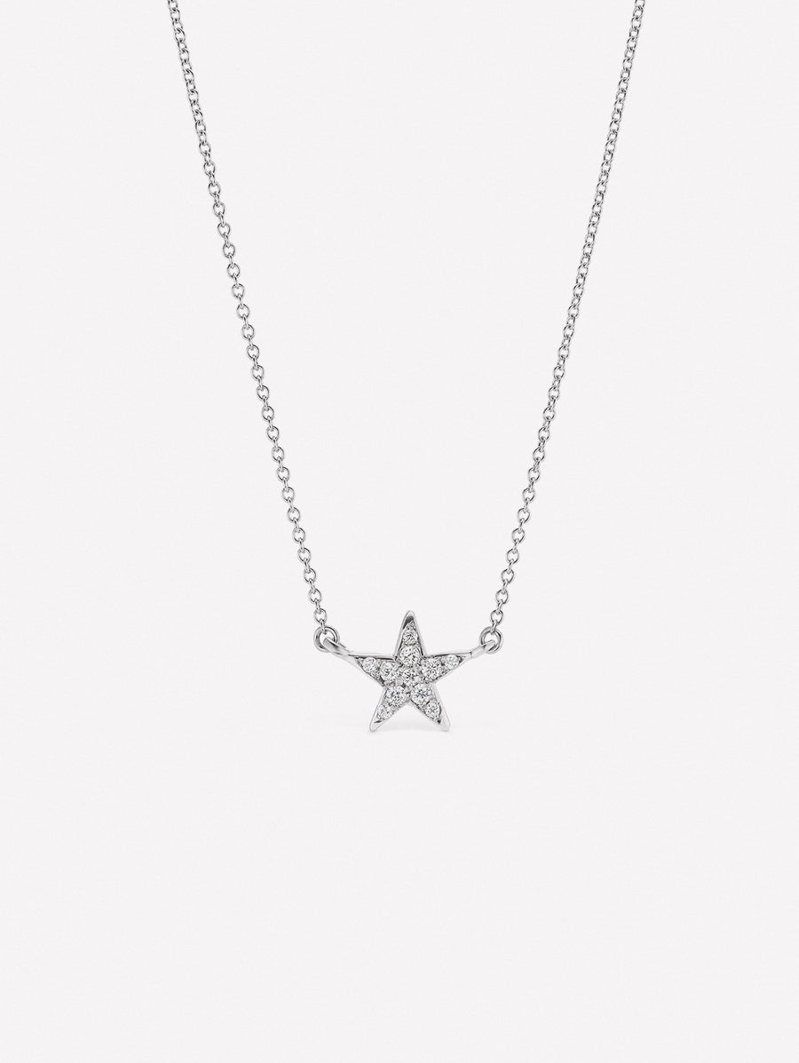 14K Star Diamond Pendant