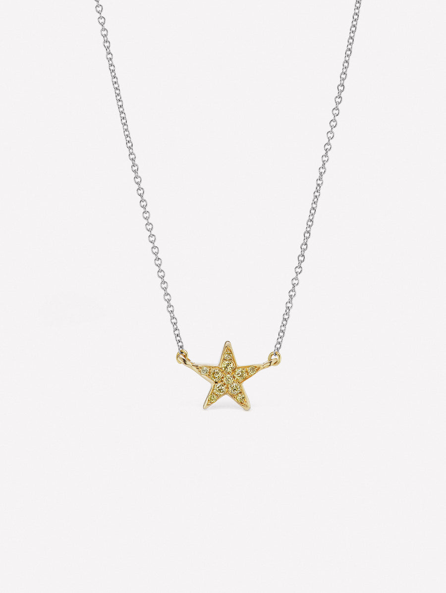 Yellow diamond star pendant from J Fine