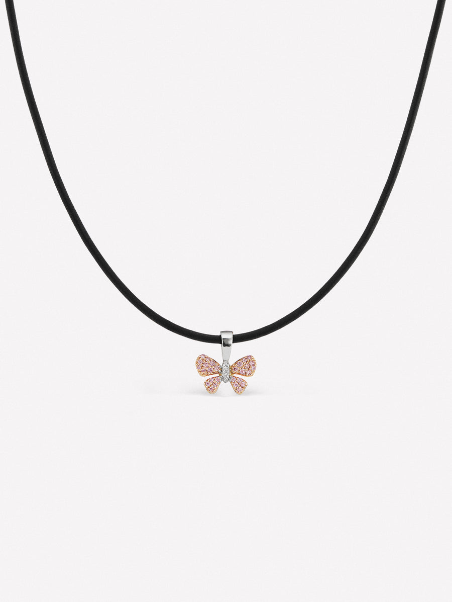 pink diamond butterfly necklace