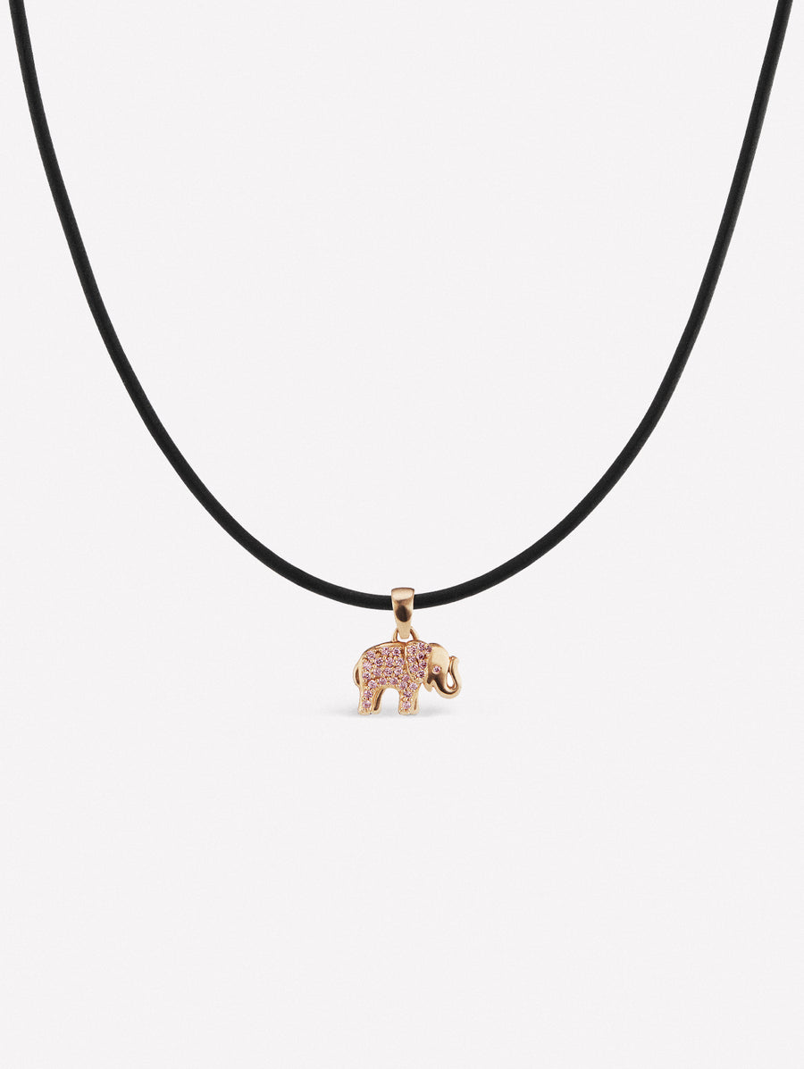 Elephant pendant with Argyle Pink diamonds from Australia