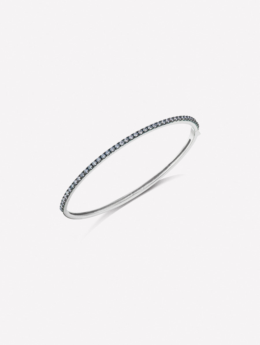 Argyle Blue Diamond Single Cuff Bracelet by J F I N E .